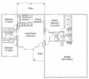 1245 Seville Floor Plan