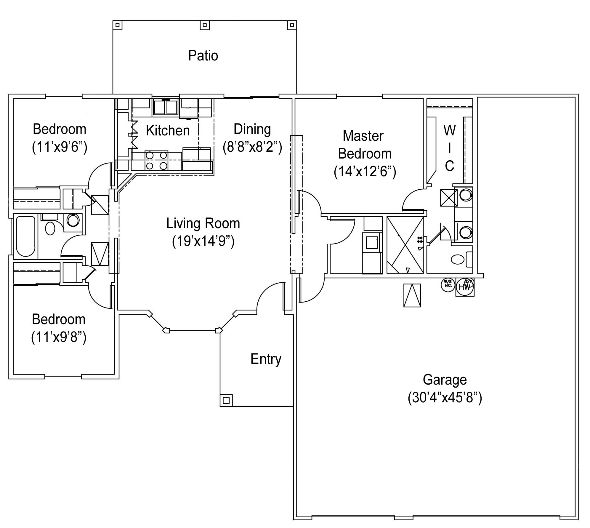 1245 seville floor plan seville builders inc seville for Car floor plan